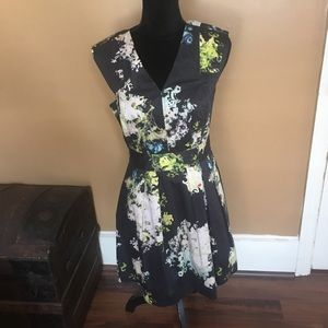 ** Cynthia Rowley Lined Floral Dress